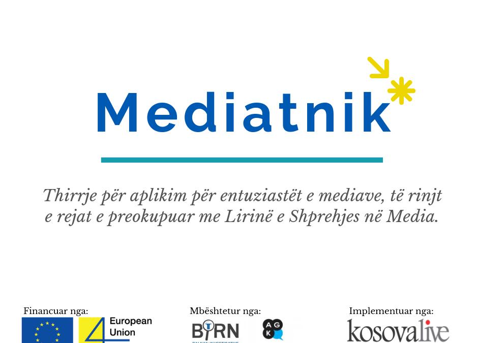 """Mediatnik"" – Thirrje për aplikim"
