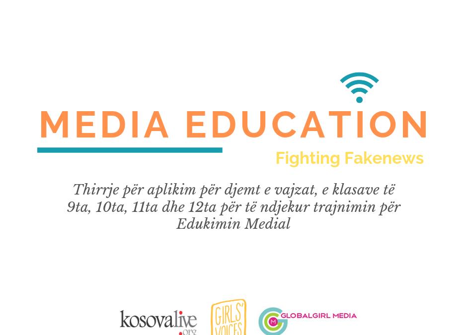 Thirrje për aplikim për Trajnim për Edukimin Medial