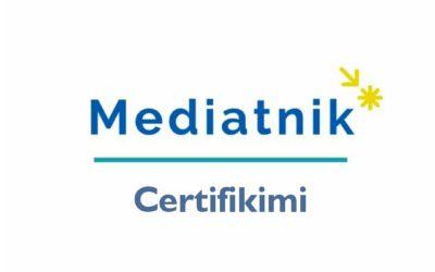 """""""Mediatnik"""" – Certifikimi"""
