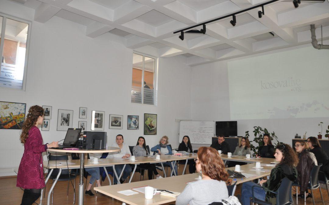"""Trajnimi i dytë me pjesëmarrëset e projektit """"Womedia"""""""