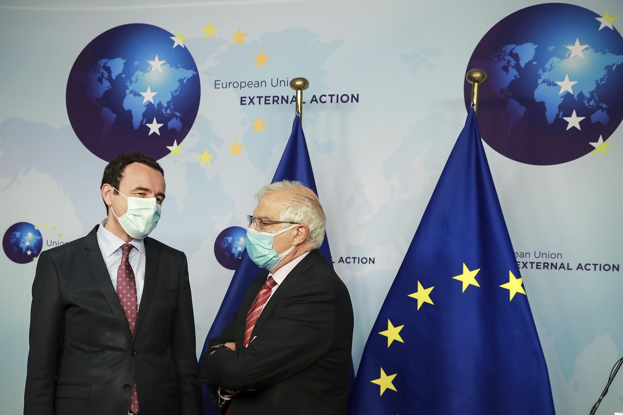 Kurti- Borell: Kosova mund të llogaris në përkrahjen e BE-së, i cili është një nga mbështetësit më të mëdhenj